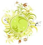 De bloemframe van Grunge Stock Afbeelding