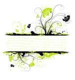 De bloemframe van Grunge Royalty-vrije Stock Afbeelding