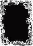 De bloemframe van Grunge, vector Royalty-vrije Stock Fotografie
