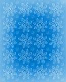 De bloemindruk berijpte Blauw Royalty-vrije Stock Foto