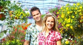 De bloemisten van mensen Royalty-vrije Stock Foto's