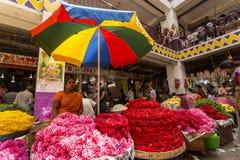 De Bloemmarkt van Kr, Bangalore, India Stock Foto