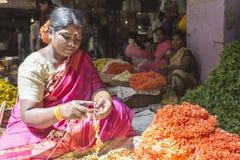 De Bloemmarkt van Kr, Bangalore, India Stock Afbeeldingen