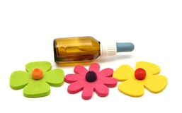 De bloemremedies van Bach en gevoelde decoratie Stock Foto