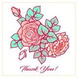 de bloemsamenstelling dankt u kaardt Royalty-vrije Stock Foto