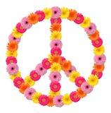 De bloemsymbool van de vrede Royalty-vrije Stock Afbeeldingen