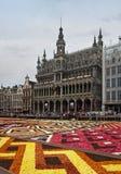 De Bloemtapijt van Brussel Stock Afbeeldingen