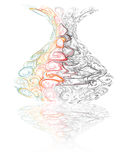 De bloemvaas van het glas Stock Afbeelding