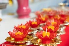 De bloemvorm van de kaarskleur voor drijvend punt royalty-vrije stock foto's