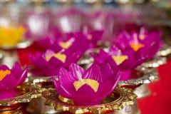 De bloemvorm van de kaarskleur voor drijvend punt royalty-vrije stock foto