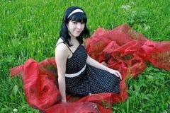In de bloemweide Stock Foto's