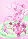 De bloesemachtergrond van de kers Vector Illustratie