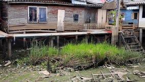 De blokhuizen van de armoede Stock Foto