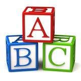 De blokken van Abc Royalty-vrije Stock Fotografie