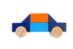 De blokken van de baby komen - privé auto voor stock foto