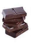De blokken van de chocolade stock fotografie