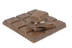 De blokken van de chocolade Stock Afbeelding