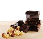 De blokken van de chocolade royalty-vrije stock foto's