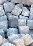 De Blokken van de Steen van het graniet Stock Fotografie