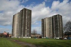 De blokken van de toren, Glasgow stock foto