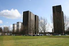 De blokken van de toren, Glasgow stock afbeelding