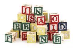 De blokken van het alfabet Royalty-vrije Stock Afbeeldingen