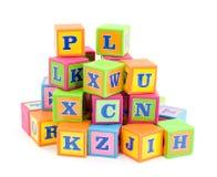 De blokken van het alfabet stock foto's