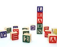 Alfabetblokken royalty-vrije stock afbeelding