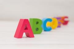 De blokken van het alfabet Stock Afbeelding