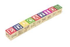 De Blokken van het alfabet - Onderwijs Stock Foto