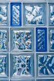 De Blokken van het glas Stock Foto