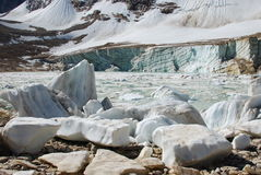 De blokken van het ijs en ijsmeer Royalty-vrije Stock Afbeeldingen