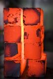 De blokken van het ijzer Stock Foto's