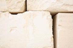 De Blokken van het kalksteen Stock Afbeeldingen