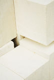 De Blokken van het kalksteen Stock Foto