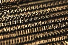 De blokken van het letterzetsel Stock Fotografie