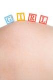 De Blokken van het Meisje van de baby Stock Foto