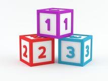 De blokken van het spel - 123 Royalty-vrije Stock Afbeeldingen