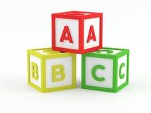 De Blokken van het spel - ABC Royalty-vrije Stock Afbeeldingen