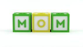 De blokken van het spel - Mamma Royalty-vrije Stock Afbeelding