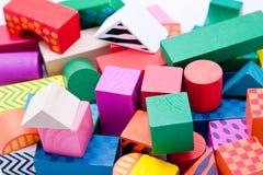 De blokken van het stuk speelgoed Royalty-vrije Stock Fotografie