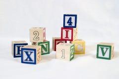 De Blokken van het stuk speelgoed Stock Foto's