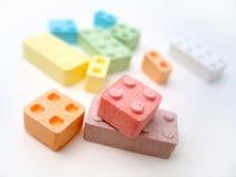 De Blokken van het suikergoed Royalty-vrije Stock Foto's