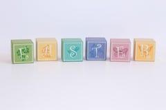 De blokken van pastelkleurpasen  Royalty-vrije Stock Afbeeldingen