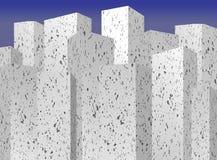 De blokken van de stadstoren royalty-vrije illustratie
