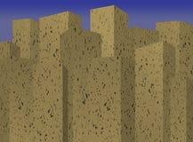 De blokken van de stadstoren stock illustratie