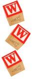 De Blokken WWW van het alfabet royalty-vrije stock afbeeldingen