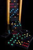 De speelplaats van de domino Stock Afbeeldingen