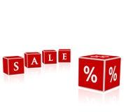 De blokkenillustratie van de verkoop Stock Afbeelding