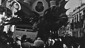De blokkenwagens van Veneti? Carnaval stock videobeelden
